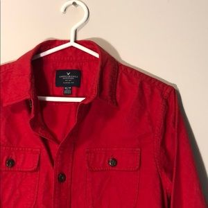 Red Flannel Button Up